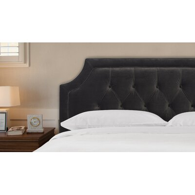 Diane Tufted King Upholstered Panel Headboard Upholstery: Dark Charcoal Grey