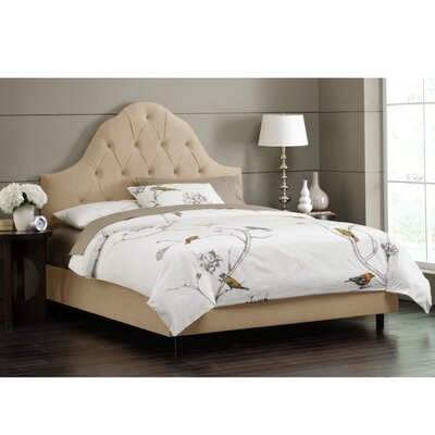 Socorro Upholstered Panel Bed Size: King, Upholstery: Velvet - Buckwheat