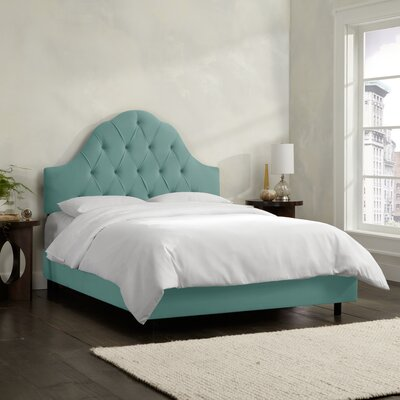 Socorro Upholstered Panel Bed Size: California King, Upholstery: Velvet - Caribbean