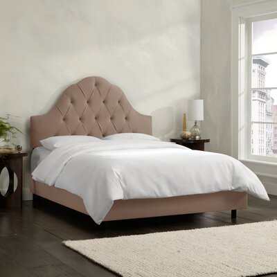 Socorro Upholstered Panel Bed Size: Twin, Upholstery: Velvet - Cocoa