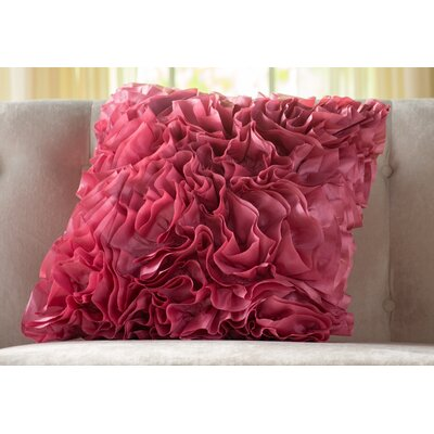 Malik Throw Pillow Size: 18 H x 18 W x 4 D, Color: Pink