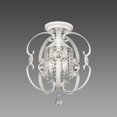 Hardouin 3-Light Semi-Flush Mount Finish: French White