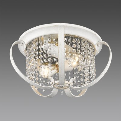 Hardouin 2-Light Flush Mount Finish: French White