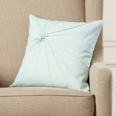 Javon 100% Cotton Throw Pillow Color: Aqua