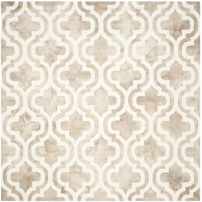 Blakeston Hand-Tufted Beige/Ivory Area Rug Rug Size: Square 7'