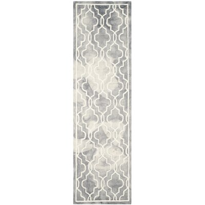Emestina Hand-Tufted Gray/Ivory Area Rug Rug Size: Runner 23 x 6