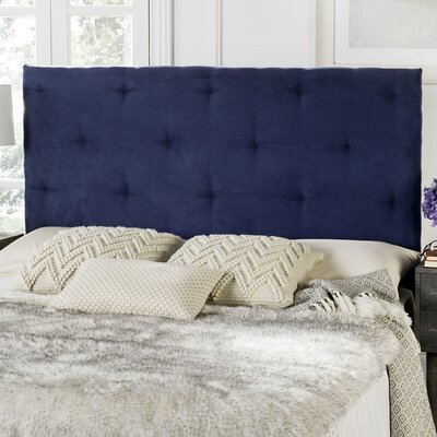 Orpington Upholstered Panel Headboard Upholstery: Blue, Size: Queen