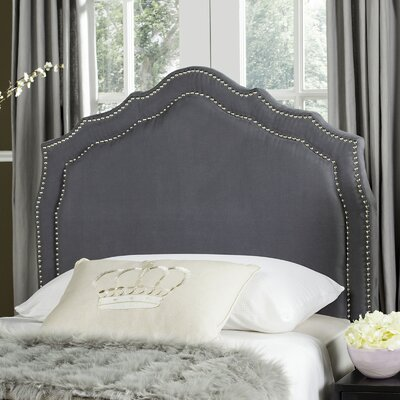 Quiana Upholstered�Panel Headboard Color: Grey, Size: Twin