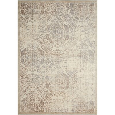 Christena Ivory Area Rug Rug Size: Rectangle 36 x 56