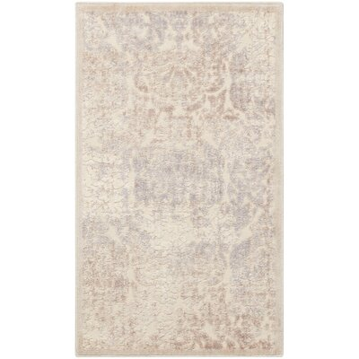 Christena Ivory Area Rug Rug Size: 23 x 39