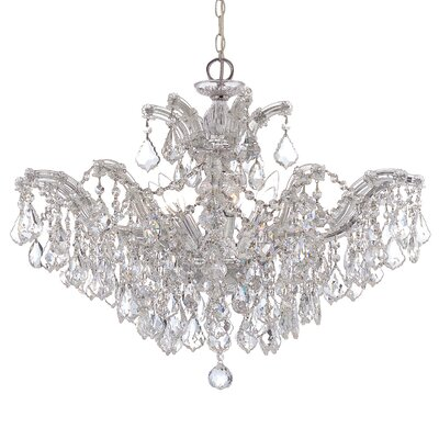 Griffiths 6-Light Crystal Chandelier Finish: Polished Chrome, Crystal Type: Hand Polished