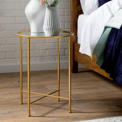 Royall End Table Finish: Gold