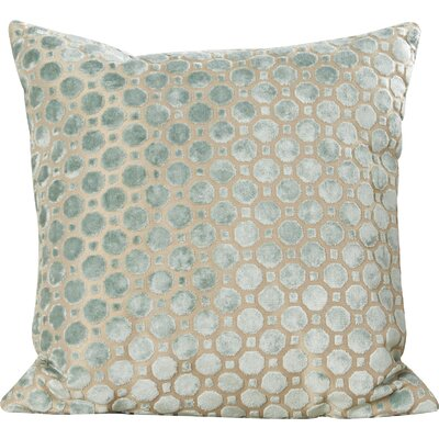 Carlie Velvet Throw Pillow Color: Mineral, Size: 18 H x 18 W