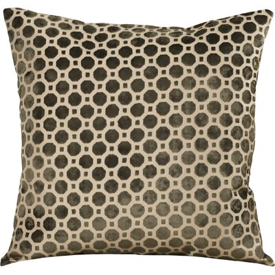 Carlie Velvet Throw Pillow Color: Brown, Size: 18 H x 18 W