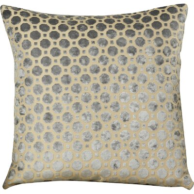 Carlie Velvet Throw Pillow Color: Grey, Size: 20 H x 20 W