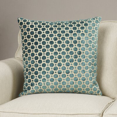 Carlie Velvet Throw Pillow Color: Emerald, Size: 18 H x 18 W
