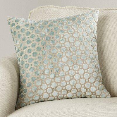 Carlie Velvet Throw Pillow Color: Mineral, Size: 20 H x 20 W