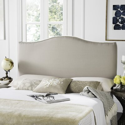 Laken Upholstered Panel Headboard Size: King, Finish: Silver