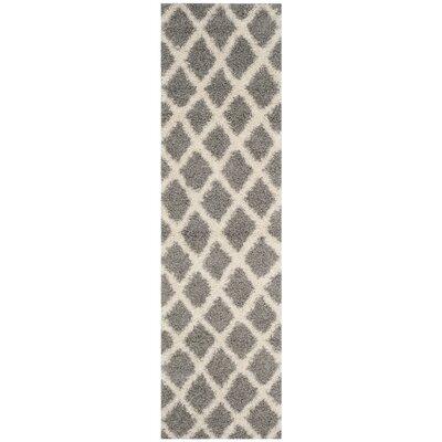 Charmain Gray/Ivory Area Rug Rug Size: Runner 23 x 8