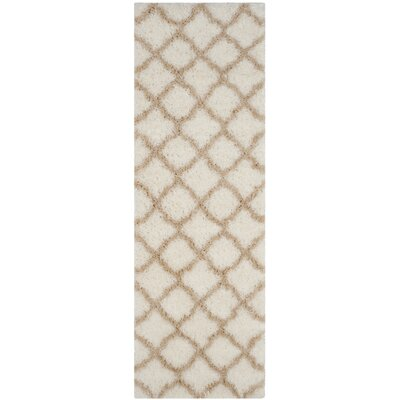 Rivers Ivory/Light Beige Area Rug Rug Size: Runner 23 x 7