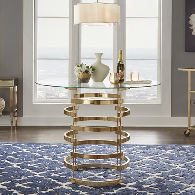 Daphne Counter Height Dining Table Finish: Champagne Gold