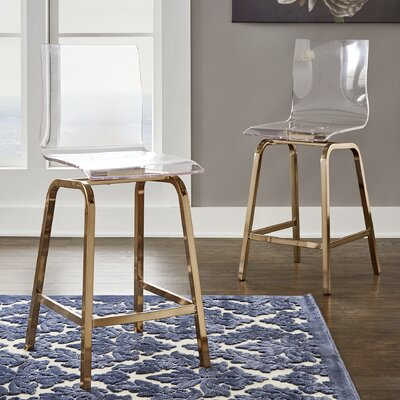 Paramount 24 Swivel Bar Stool Finish: Champagne Gold