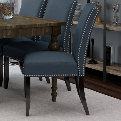 Brucedale Parsons Chair Upholstery: Slate