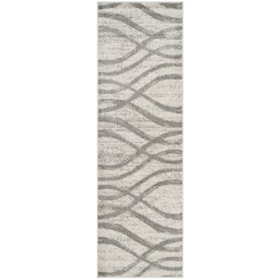 Marlee Cream/Gray Area Rug Rug Size: Runner 26 x 8