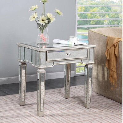 Ake End Table Finish: Silver & Antique Mirror