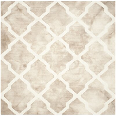 Drury Hand-Tufted Beige/Ivory Area Rug Rug Size: Square 7