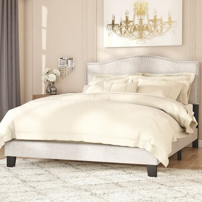Upholstered Panel Bed Size: Queen, Color: Linen