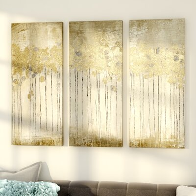 Sandy Forest 3 Piece Painting Print Set