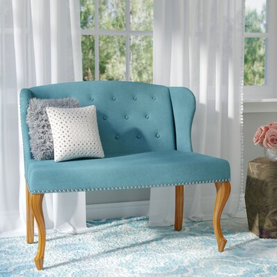 Dean Fabric Loveseat Upholstery: Dark Teal