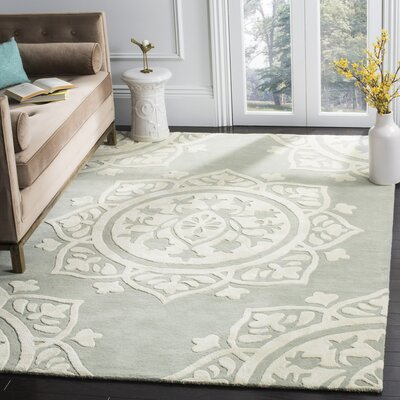 Romford Hand-Tufted Gray/Beige Area Rug Rug Size: Rectangle 6 x 9