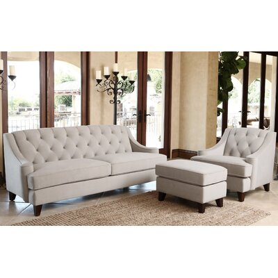 Scarborough 3 Piece Living Room Set Color: Taupe