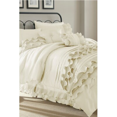 Embla 8 Piece Comforter Set Size: King, Color: Pearl