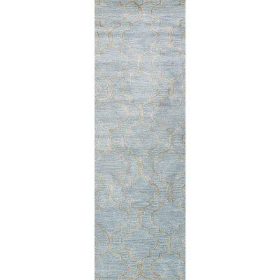 Raimondo Hand-Tufted Sky Area Rug Rug Size: Runner 26 x 8