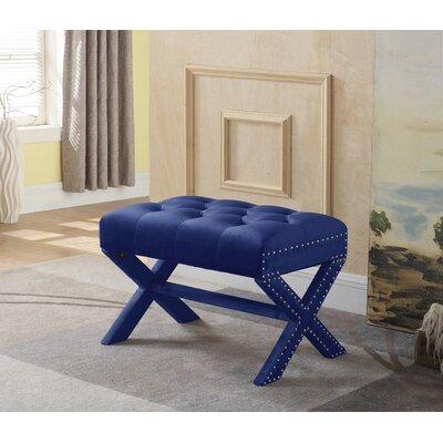 Hagen Ottoman Upholstery: Navy