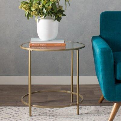 Casanova End Table Color: Satin Gold