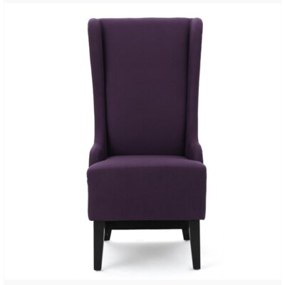 Dahill Parsons Chair Upholstery: Plum