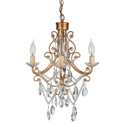 Sherwood Crystal 4-Light Crystal Chandelier Finish: Gold