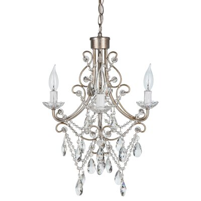 Sherwood Crystal 4-Light Crystal Chandelier Finish: Silver