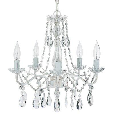 Alida 5-Light Crystal Chandelier Finish: Whitewashed