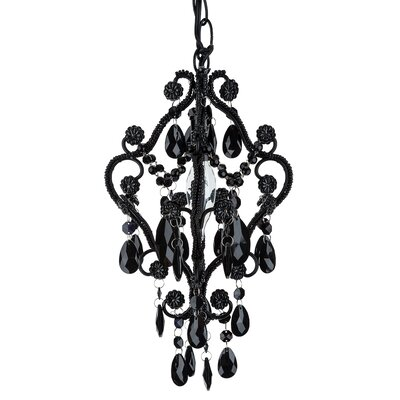 Alida 1-Light Mini Chandelier Finish: Black