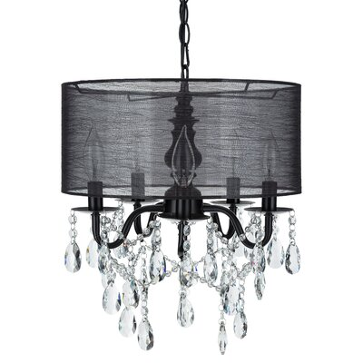 Alida 5-Light Drum Chandelier Finish: Black