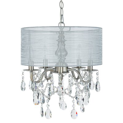 Alida 5-Light Drum Chandelier Finish: Silver