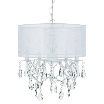 Alida 5-Light Drum Chandelier Finish: White