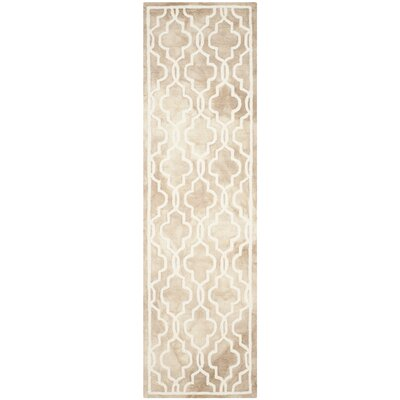 Hand-Tufted Beige/Ivory Area Rug Rug Size: Runner 23 x 8