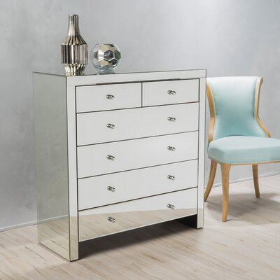 Ralston 6 Drawer Mirrored Chest