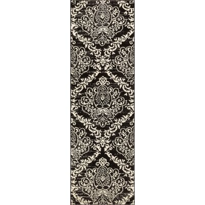 Newquay Magnolia Black/White Area Rug Rug Size: Runner 23 x 73